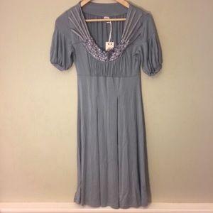 Joie Embellished Empire Waist Dress NWT